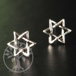 Star of David Studs Silver 925