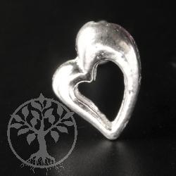 Herz Silberohrstecker 925er Silber