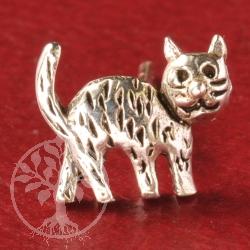 Cat Silver Earstud