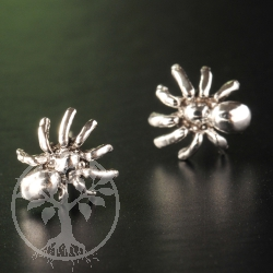 Spider Silver Earstud