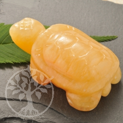 Orange Calcite Gemstone Turtle