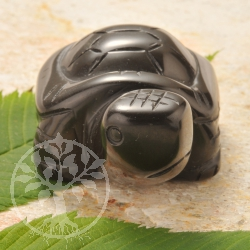 Onyx Turtle Gemstone Figure
