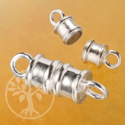 Magnetverschluss Walze kleiner Silber Verschluss 925