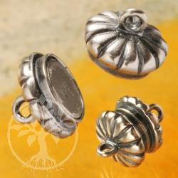 Magnetic Clasp Button Oxi Silver 925