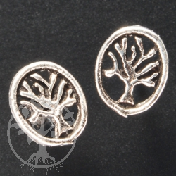 Tree of Live Silver Earring