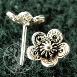 Flower Silver Earring