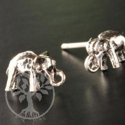 Elephant Silver Earring