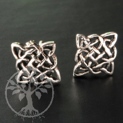 Gothic Knots Silver Earring