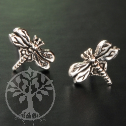 Dragonfly Silver Earstud