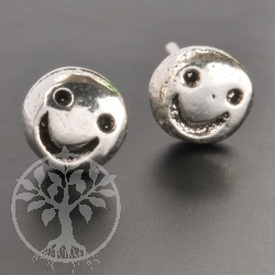 Smile als Ohrstecker smily Stecker Sterling Silber