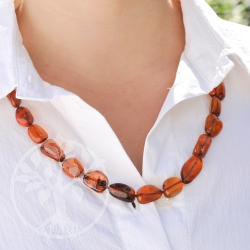 Amber Necklace Cognac