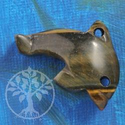 Hawks Eye Dolphin Pendant big