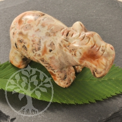 Brecciated Jasper Hippo Animal Figure