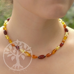 Amber Necklace Olive