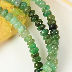 Emerald Gemstone Necklace Button 3mm Button Beads