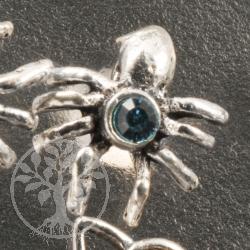 Zirkonia Silberohrstecker Spinne