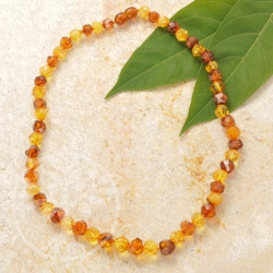 Facetted Amber Necklace