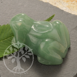 Aventurine Frog Animal Figure