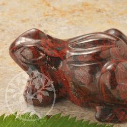 Brekzien Jaspis Frosch Steinfigur