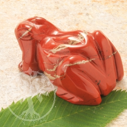 Red Jasper Gemstone Frog
