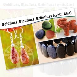 Goldstone Bluestone Greenstone Mineral Stone Description Cards