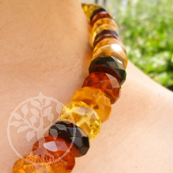Amber Necklace Facetted