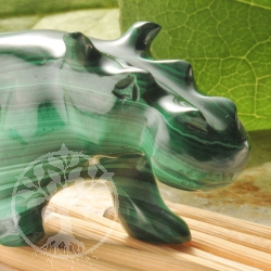 Malachite Hippo Animal Figure unique