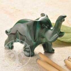 Malachite Figurine Elephant unique