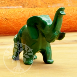 Elephant Malachite Gemstone Figure 014
