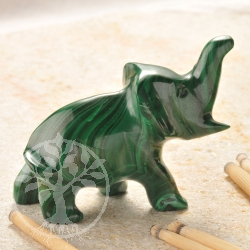 Malachite Gemstone Figure Elephant