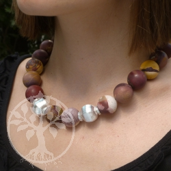 Mookaite Necklace Silver