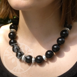 Obsidian Necklace Silver