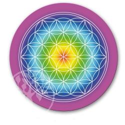 Flower of Life Sticker Rainbow 45mm