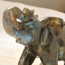 Labradorite Elephant Gemstone Shape