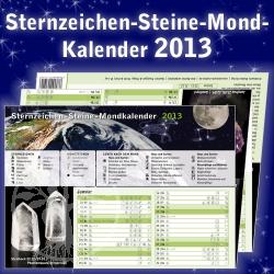 Sternzeichen - Steine - Mondkalender 2013