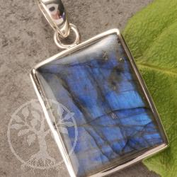 Labradorit Silber Anhaenger Rechteck