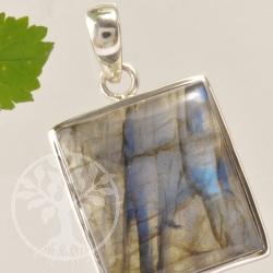 Labradorite Pendant Silver rectangle Gemstone