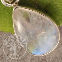 Regenbogenmondstein Anhaenger in Silber925