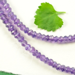 Amethyst Necklace Facetted 3-3,5MM Beads