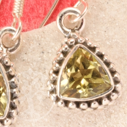 Prasiolith Gemstone Earring Triangle