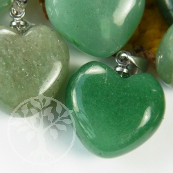 Aventurine Heart Pendant Small No Sterling