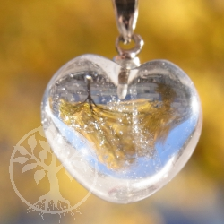 Crystall Quartz Heart Pendant Small