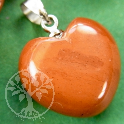 Red Jasper Heart Pendant Small
