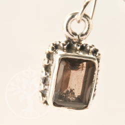 Smoke Quartz Gemstone Earring Rectangle