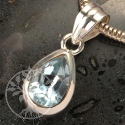 Topas Silberanhänger Tropfen Silberanhänger 925