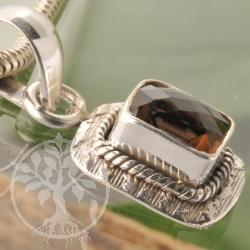 Smoky Quartz Silver Pendant