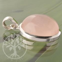 Rosa Quartz Silver Pendant
