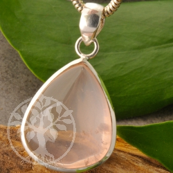 Rosa Quartz Silver Pendant Drop Shape Sterlingsilver