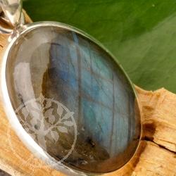 Labradorite Silver Pendant 25mm Gemstone