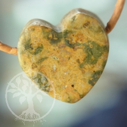 Pop Jasper Heart Pendant Small